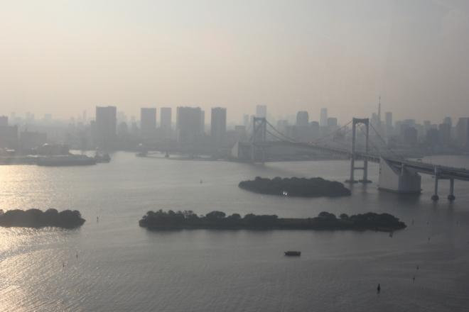 Vue de la baie de Tokyo