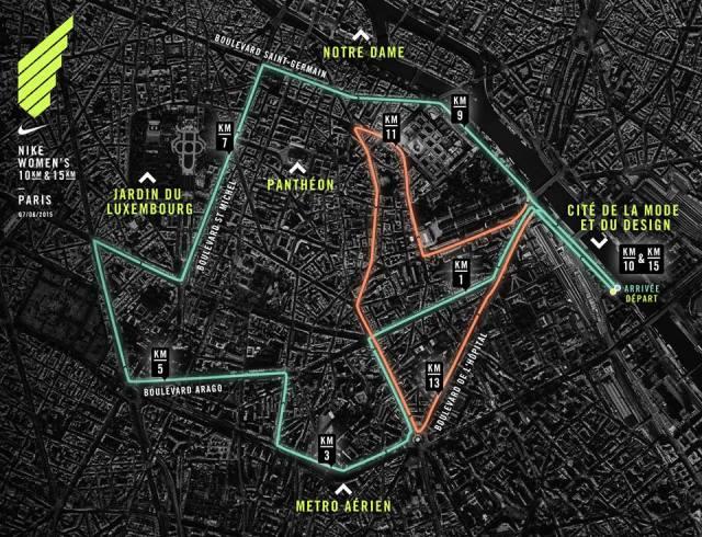 Map Nike Run Women